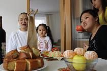 Na obědě u mongolské rodiny