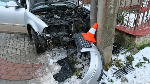 Nehoda v Hnojicích na Olomoucku