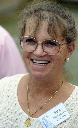 Eva Romanová Graham na setkání bývalých krasobruslařů vPraze vroce 2008