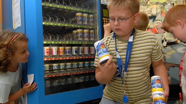 Automat na mléčné výrobky
