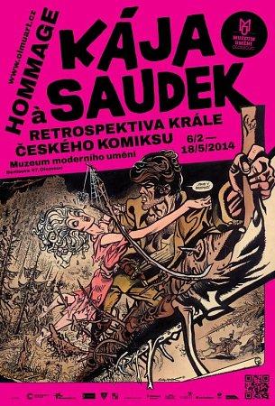 Plakát kvýstavě Káji Saudka volomouckém Muzeu umění