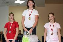 Pavlína Žižková na nejvyšším stupni závodu veslařek na  trenažéru