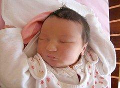 Denisa Mandysová, Horka nad Moravou, narozena 25. května v Olomouci, míra 53 cm, váha 4110 g