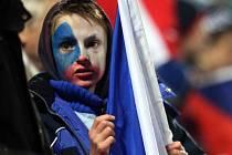Fanoušci na zápase reprezentace v Olomouci