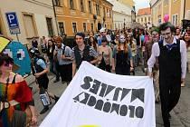 Majáles studentů UP v Olomouci. Ilustrační foto