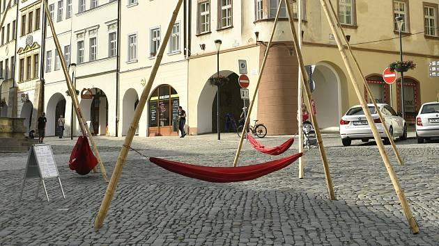 Architektonická instalace na Dolním náměstí v Olomouci, 3. 7. 2020
