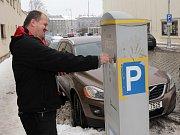 Parkovací automat v centru Olomouce