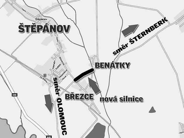 Nový objezd Štěpánova