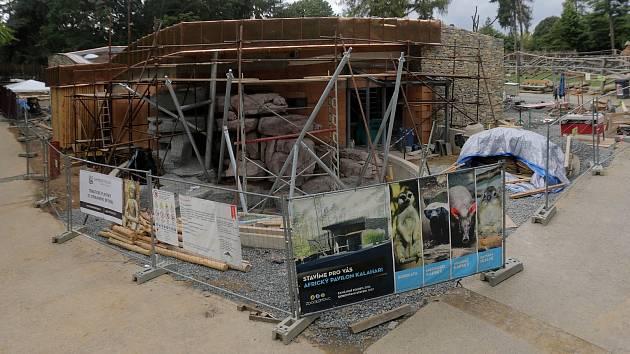 Stavba afrického pavilonu v Zoo Olomouc. Září 2017