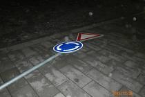 Ulomená značka po tanečních kreacích v Olomouci