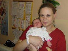 Ellen Zatloukalová, Olomouc, narozena 27. ledna v Olomouci, míra 50 cm, váha 3810 g