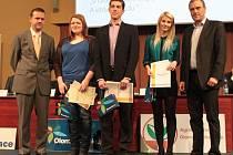 První místo v kategorii Žiji v Olomouckém kraji si odnesla trojice Michaela Kafková, Anna Němcová a Adam Kosatík z Gymnázia Šternberk.