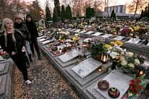 Dušičky na olomouckém hřbitově