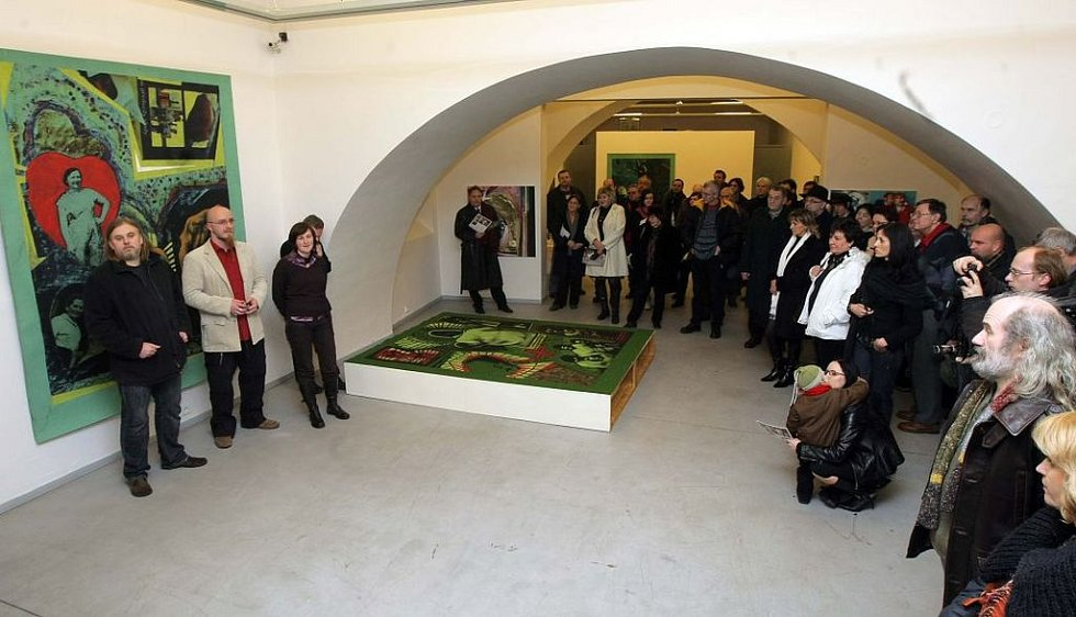 Vernisáž výstavy Pavla Formana v olomoucké galerii Caesar