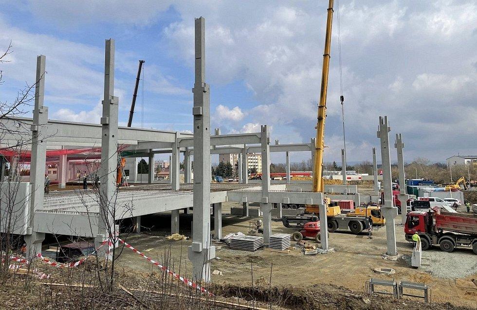Stavba Kauflandu na Tabulovém vrchu v Olomouci, 19. března 2021