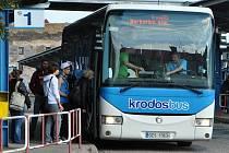 Autobus společnosti Krodos Bus v Kroměříži. Ilustrační foto
