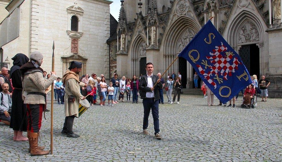 Závěr vzpomínkové akce k vraždě Václava III. v Olomouci, 4. srpna 2021
