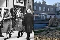 Tuzex - ostrov západního luxusu v socialistickém Československu s nelegálními prodejci bonů a valut (tzv. veksláky). V Olomouci fungoval Tuzex s elektronikou, oblečením a kosmetikou na Tererově náměstí