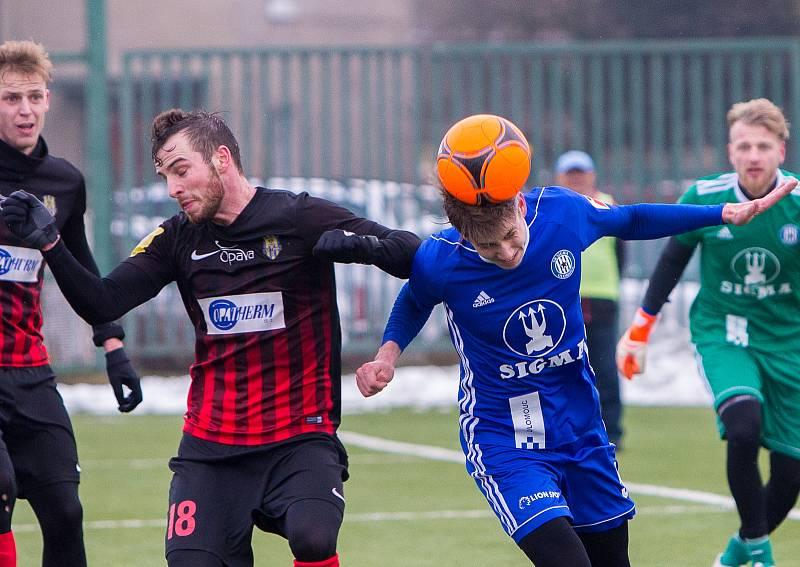 Sigma Olomouc - SFC Opava 3:0. Václav Jurečka a Tomáš Zlatohlávek.
