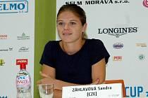 Mezinárodní turnaj žen v Olomouci ITS Cup- Jednička turnaje Sandra Záhlavová.