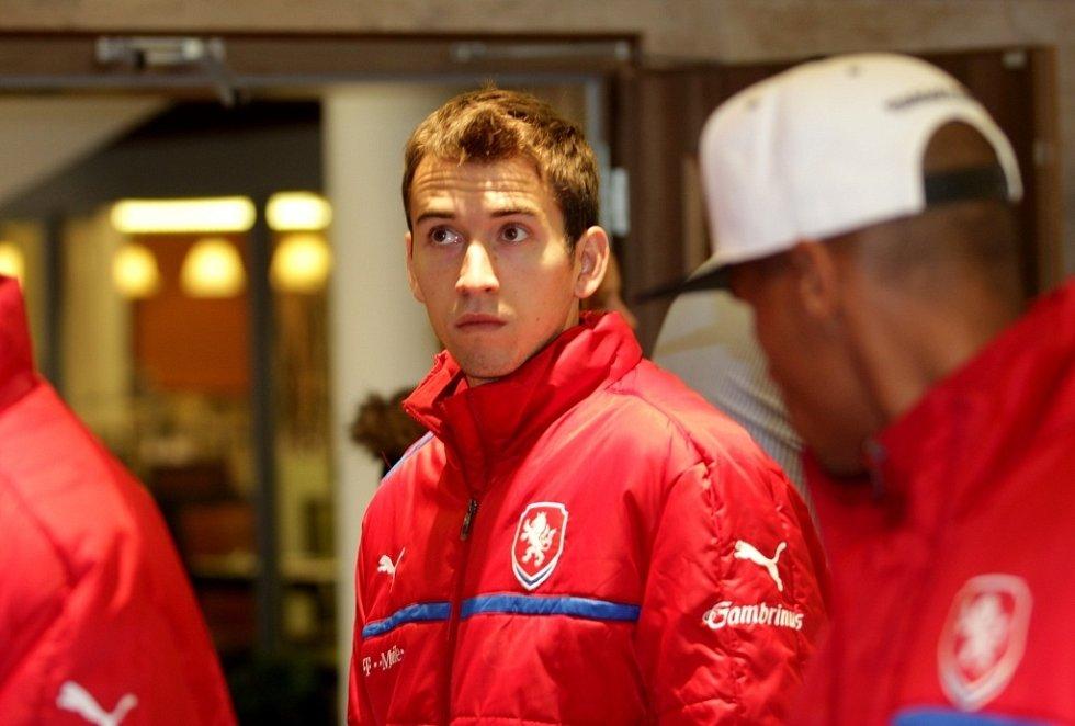 Fotbalová reprezentace přijela do Olomouce k přátelskému zápasu s Kanadou. Tomáš Hořava