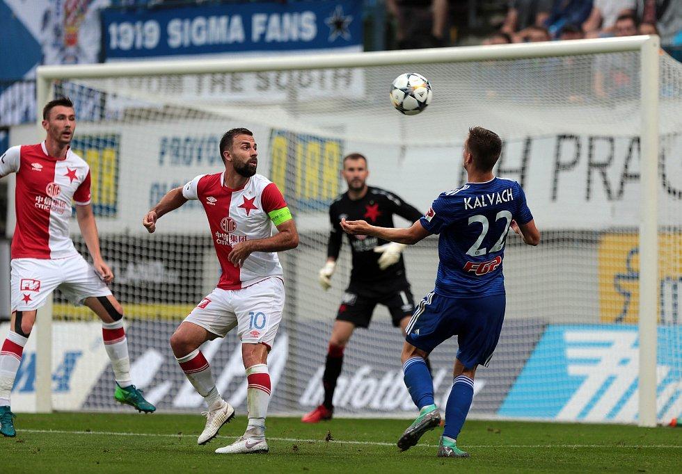 SK Sigma - Slavia Praha. Jaromír Zmrhal, Josef Hušbauer, Lukáš Kalvach