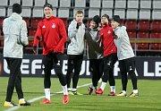 Trénink FC Lokomotiv Moskva na Andrově stadionu v Olomouci