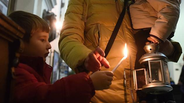 Betlémské světlo. Ilustrační foto