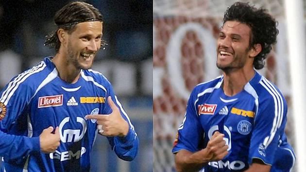 Brazilci Melinho (v roce 2007) a Rossi (v roce 2009) jako opory olomoucké Sigmy