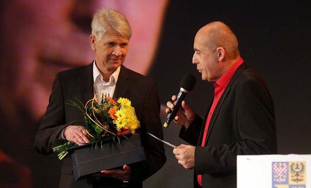 Trenér prostějovských volejbalistek Miroslav Čada. Vyhlášení Sportovce Olomouckého kraje za rok 2015