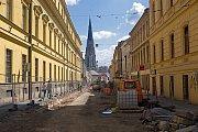 Rekonstrukce třídy 1. máje v Olomouci 26. května 2017