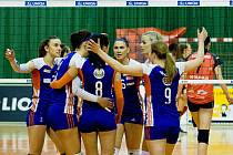 Olomoucké volejbalistky proti Ostravě - třetí semifinálový zápas