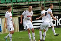 Fotbalisté Holice - Patrik Šimko, Libor Žondra, Ondřej Murin
