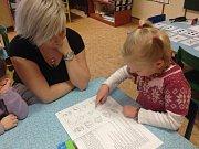 Zápis do první třídy v Krčmani