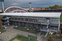 Přestavba tribuny a zázemí Androva stadionu pro Euro21 v Olomouci. Ilustrační foto