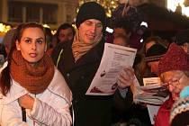 9. prosince 2015. Česko zpívá koledy na Horním náměstí v Olomouci
