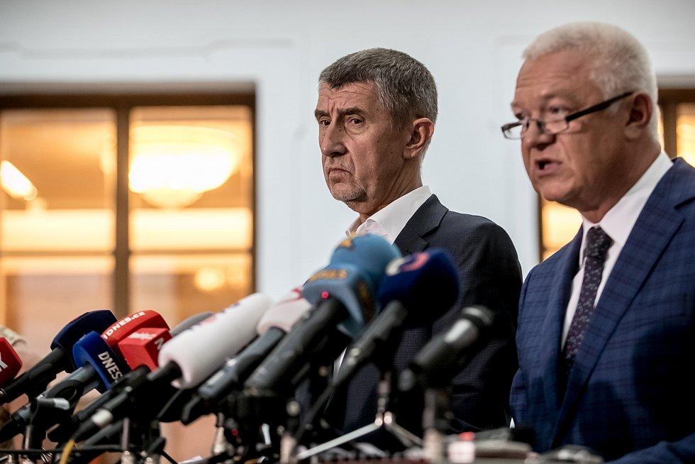 Jaroslav Faltýnek (vpravo) a Andrej Babiš