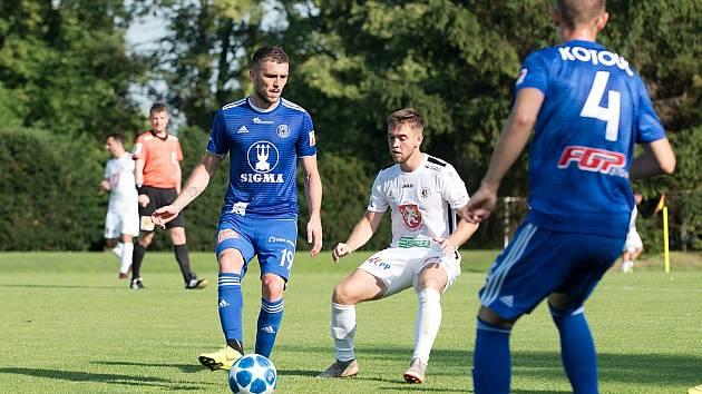Sigma Olomouc porazila v přípravném utkání ve Slatinicích Hradec Králové 1:0.Lukáš Greššák