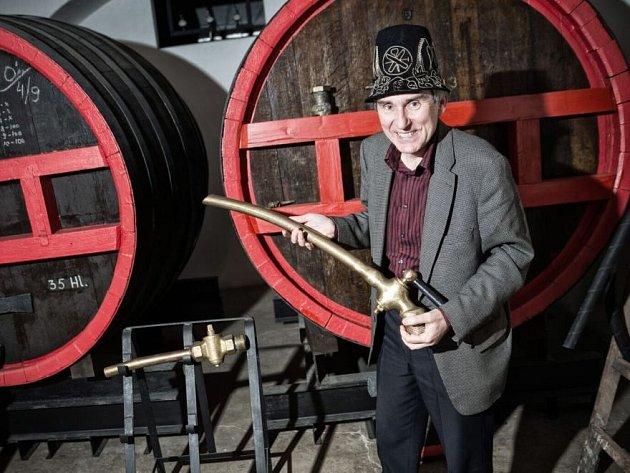 Emeritní sládek litovelského pivovaru Miroslav Koutek
