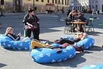 Akce s názvem Zažít Olomouc jinak na náměstí Republiky v Olomouci.