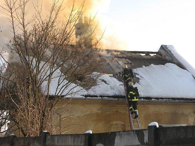 Požár drážního domku
