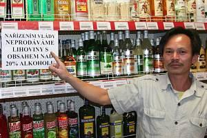 Prodej alkoholu. Ilustrační foto.