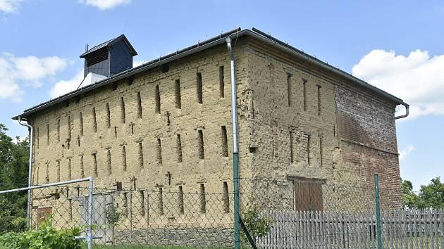 Historická sušárna chmele v Odrlicích, místní části Senice na Hané na Olomoucku
