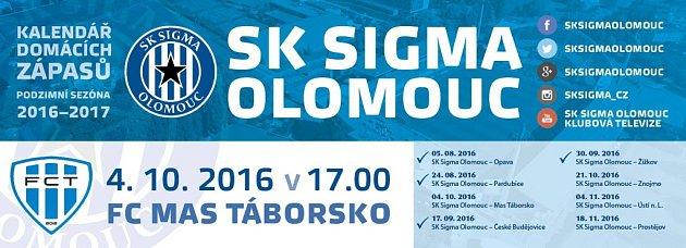 Pozvánka na zápas Sigma - Táborsko