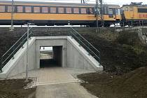 Cyklostezka a podjezd pod tratí v Července, 18. prosince 2020