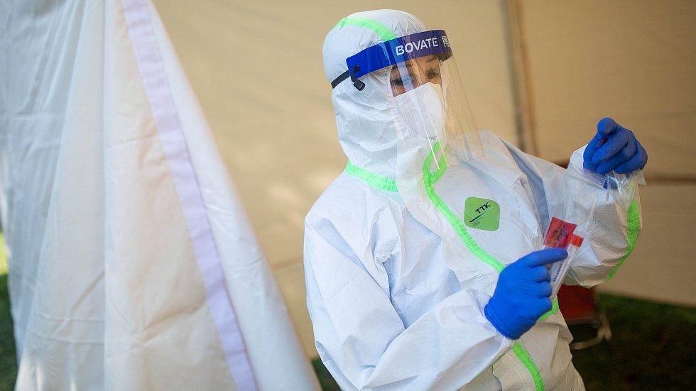 Odběrové místo pro testy na koronavirus. Ilustrační foto