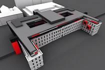 Vizualizace proměny nemocničního pavilonu přezdívaného Franz Josef z roku 2009
