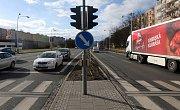 Velkomoravská ulice v Olomouci