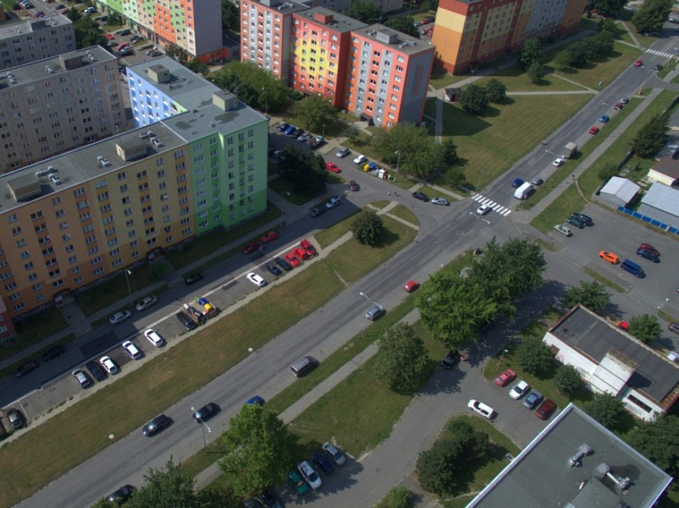 Rozšíření tramvajové trati na Nové Sady a do Slavonína. Na snímku je vizualizace - stav před - Zikova ulice