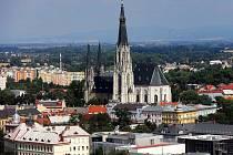 Výhled na Olomouc s katedrálou sv. Václava